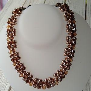 Topaz SWAROVSKI/Brown Fashion Pearl Necklace
